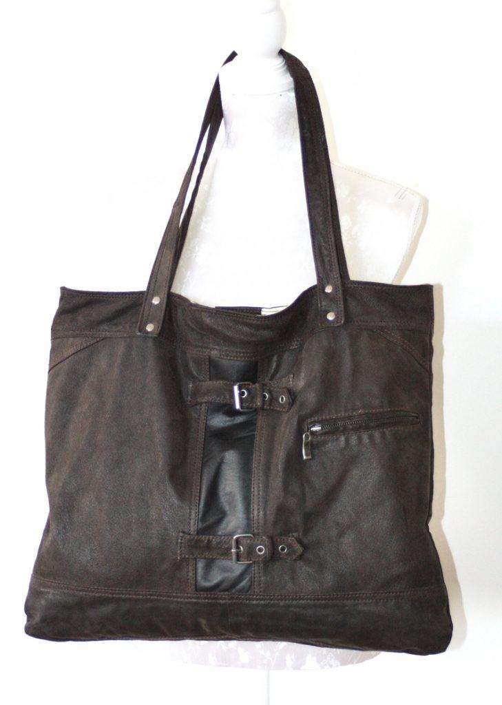 Brown / black city bag