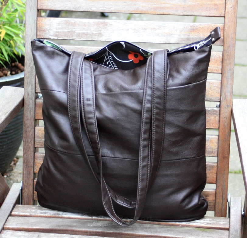 A simple and soft brown leather bag