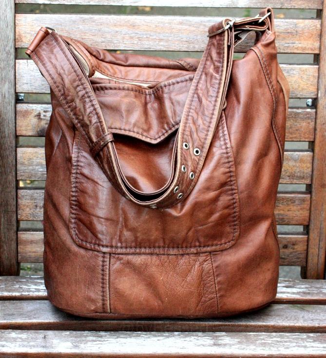 Beautifull vintage leather jacket bag