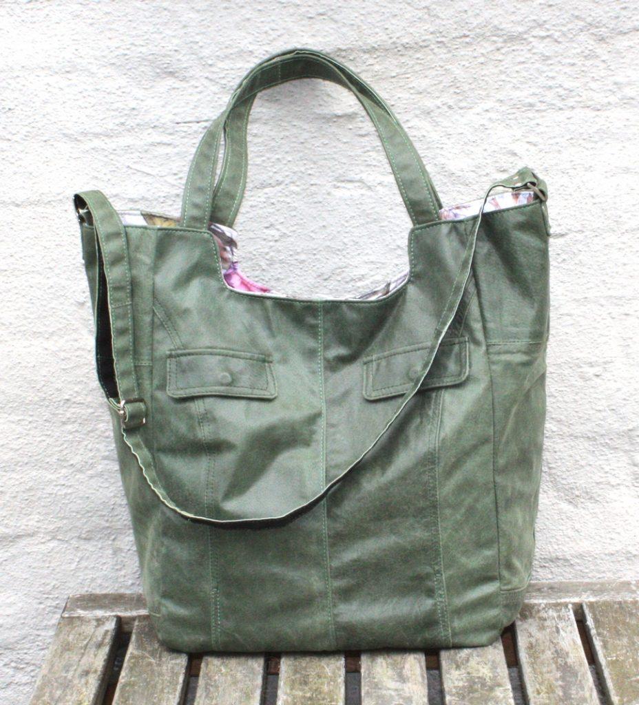 A green shopper bag