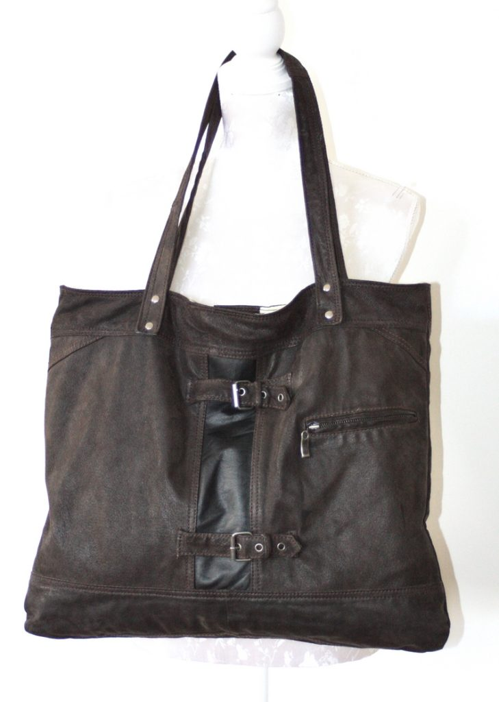 Brown / black city bag