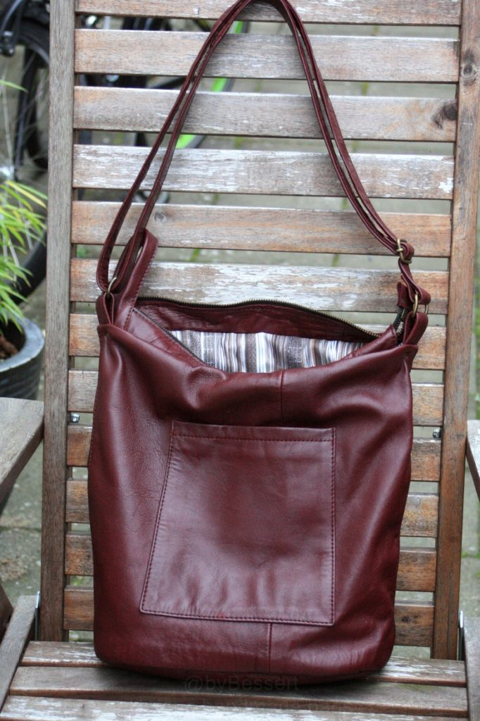 Vintage leather red/brown bag