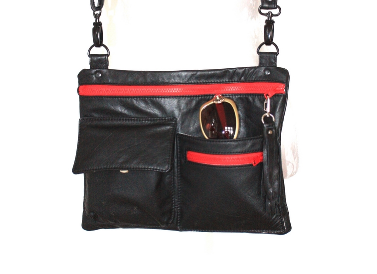 A small black crossbody