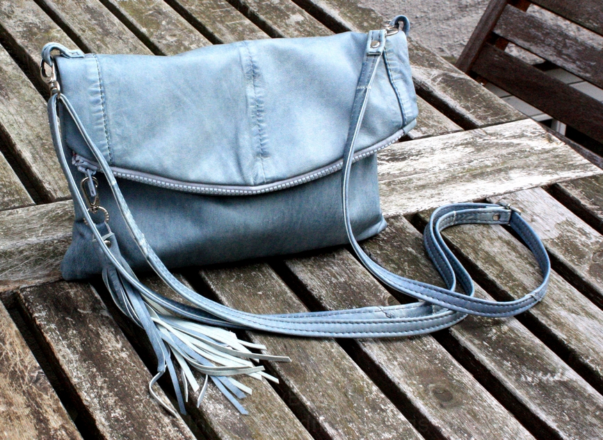 A blue Barcelona bag