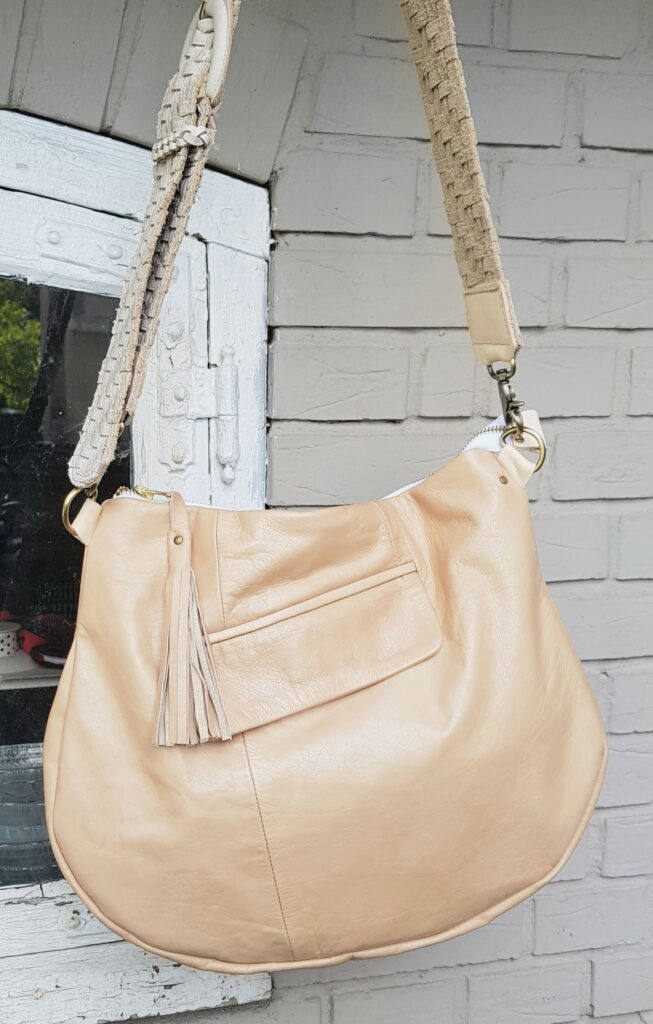 Beautiful tan leather bag