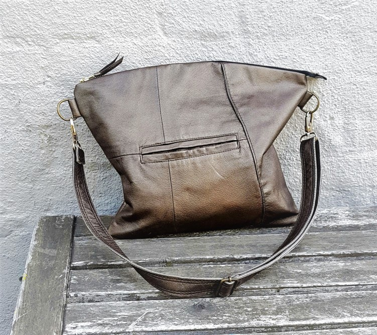 Golden brown crossbody bag